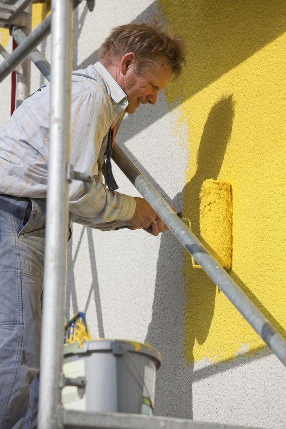 fassadenfarbe vorbereitung fr den groen anstrich - Fassade Streichen