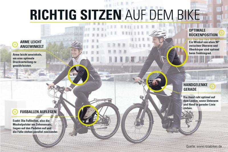 richtige sitzposition auf dem fahrrad die 3 besten tipps. Black Bedroom Furniture Sets. Home Design Ideas
