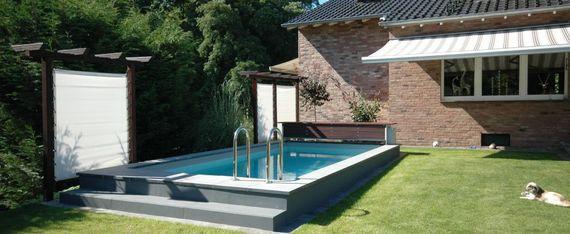 ein pool im garten die 6 besten tipps ratgeberzentrale. Black Bedroom Furniture Sets. Home Design Ideas