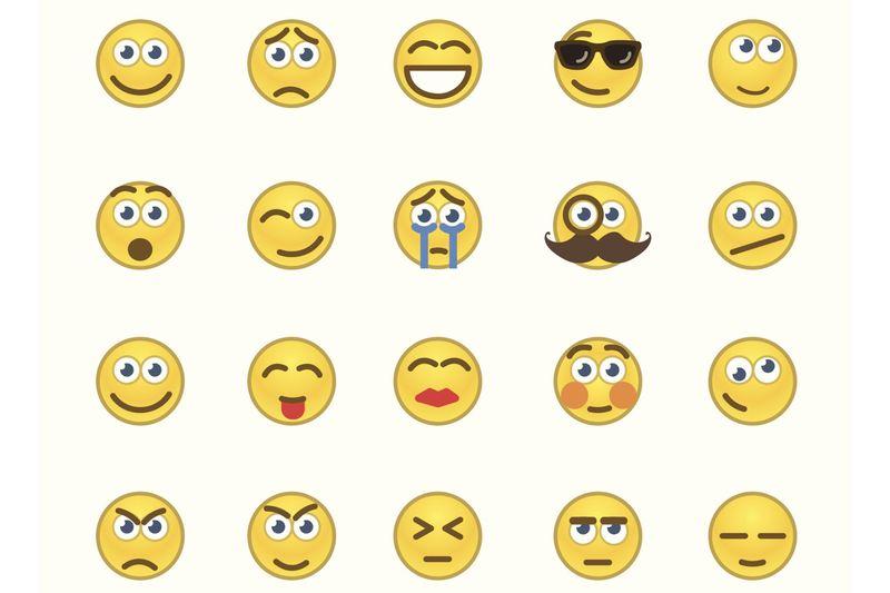 Ausdrucken smileys Emojis Zum