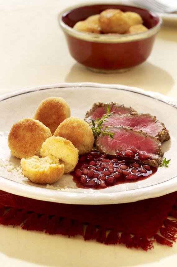 Festliches Weihnachts-Menü: Rinderfilet mit Granatapfelsauce ...