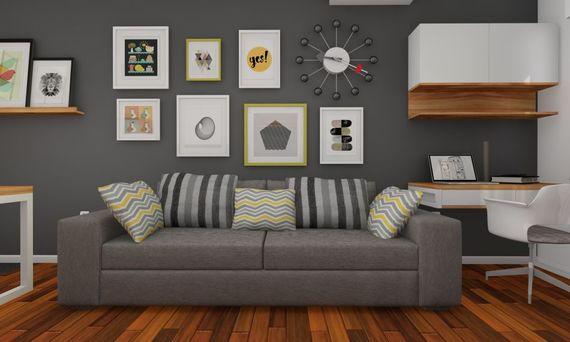 wie h nge ich ein bild auf 7 ideen zur anordnung von bildern ratgeberzentrale. Black Bedroom Furniture Sets. Home Design Ideas
